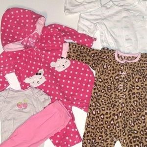 6 PC Carter's Baby Girl Mixed Lot 6 Months